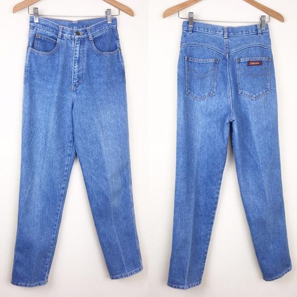 89e6df3bf9 VTG 80s 25x29 High Waist Denim Mom Jeans Western. M_5c2ff3bc8ad2f93f810cdc63